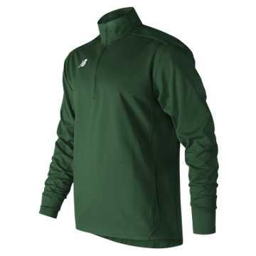 Men's Lightweight Solid Half Zip, Team Dark Green