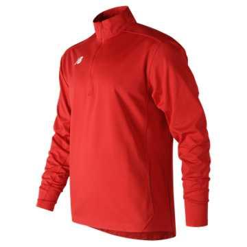 Men's Lightweight Solid Half Zip, Team Red