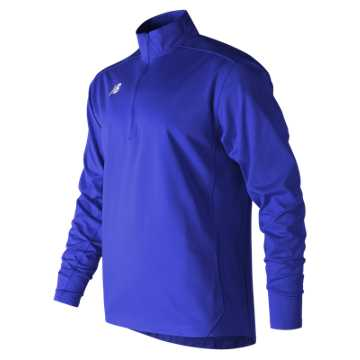 Men's Lightweight Solid Half Zip, Team Royal