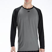 Raglan Tech Tee, Team Black with Grey