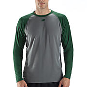 Raglan Tech Tee, Team Dark Green with Grey