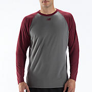 Raglan Tech Tee, Team Cardinal with Grey