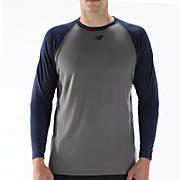 Raglan Tech Tee, Team Navy with Grey