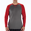 Raglan Tech Tee, Team Red with Grey