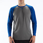Raglan Tech Tee, Team Royal with Grey