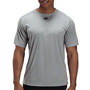 Short Sleeve Power Top, Light Grey