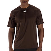 Short Sleeve Power Top, Team Brown
