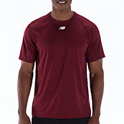 Short Sleeve Power Top, Team Cardinal
