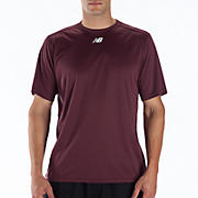 Short Sleeve Power Top, Team Maroon