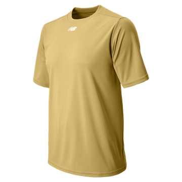 New Balance Short Sleeve Baseball Power Top, Team Vegas Gold
