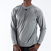 Long Sleeve Power Top, Light Grey
