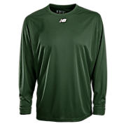 Long Sleeve Power Top, Team Dark Green