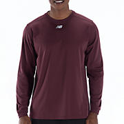 Long Sleeve Power Top, Team Maroon