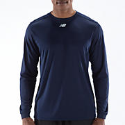 Long Sleeve Power Top, Team Navy