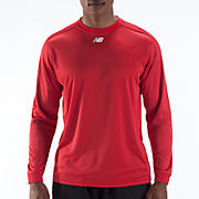 Long Sleeve Power Top, Team Red