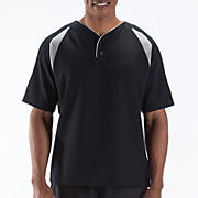Pro Elite Short Sleeve Jacket, Black with Athletic Grey