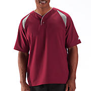 Pro Elite Short Sleeve Jacket, Team Cardinal with Athletic Grey