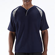 Pro Elite Short Sleeve Jacket, Team Navy with Athletic Grey