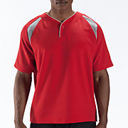 Pro Elite Short Sleeve Jacket, Team Red with Athletic Grey