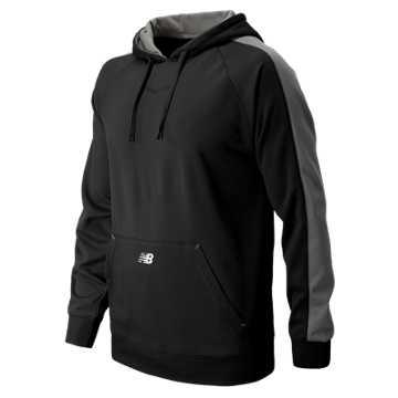 New Balance Performance Fleece Baseball Hoodie, Team Black with Athletic Grey