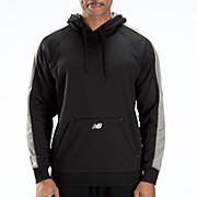 Performance Fleece Hoodie, Team Black with Athletic Grey