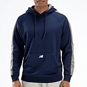 Performance Fleece Hoodie, Team Navy with Athletic Grey