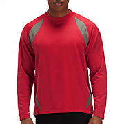 Performance Fleece Pullover, Team Red with Athletic Grey
