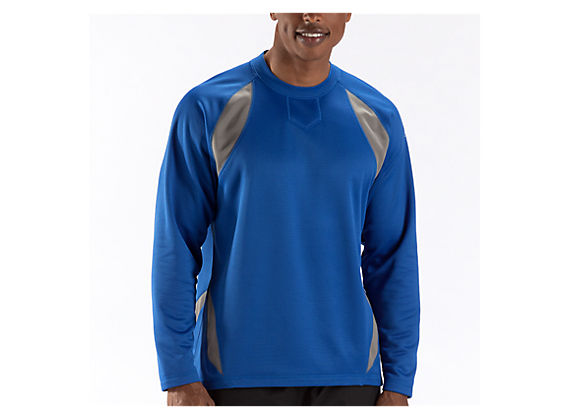 Performance Fleece Pullover, Team Royal with Grey