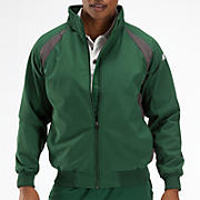 Pro Elite Dugout Jacket, Green with Grey