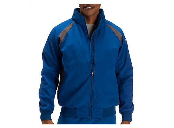 Pro Elite Dugout Jacket, Royal Blue with Grey