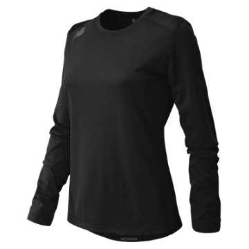 Women's Long Sleeve Tech Tee, Team Black