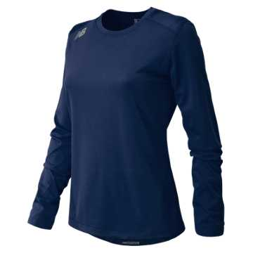 Women's Long Sleeve Tech Tee, Team Navy