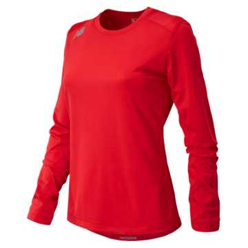 Women's Long Sleeve Tech Tee, Team Red