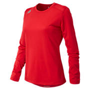 Long Sleeve Tech Tee, Team Red