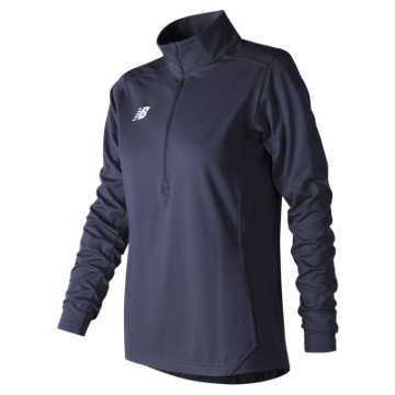 Women's Lightweight Solid Half Zip, Team Navy