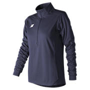 Lightweight Solid Half Zip, Team Navy