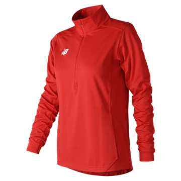 Women's Lightweight Solid Half Zip, Team Red