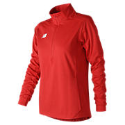 Lightweight Solid Half Zip, Team Red