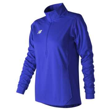 Women's Lightweight Solid Half Zip, Team Royal