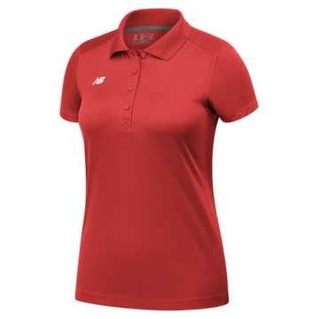 Women's Performance Tech Polo , Team Red