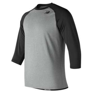 Youth Baseball Raglan Top, Team Black