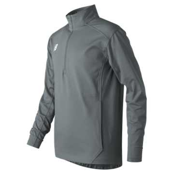 Youth Lightweight Solid Half Zip, Gunmetal