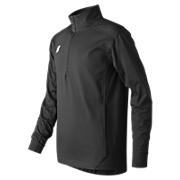 Youth Lightweight Solid Half Zip, Team Black