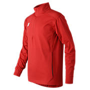 Youth Lightweight Solid Half Zip, Team Red