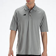 Solid Short Sleeve Polo, Grey with Black