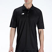 Solid Short Sleeve Polo, Black with White
