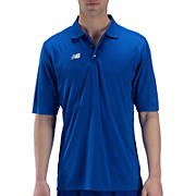 Solid Short Sleeve Polo, Royal Blue with White