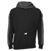 Performance Fleece Hoodie, Team Black with Grey