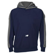 New Balance Performance Fleece Hoodie, Team Navy with Grey