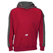Performance Fleece Hoodie, Team Red with Grey